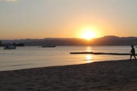Sunset overlooking Israel